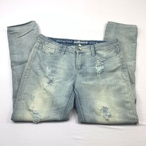 Dollhouse jeans ripped stretch distressed